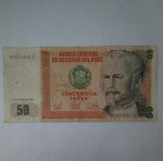 monedas de America - Perú -  1987 -50 Intis
