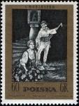Stamps Poland -  Stanislaw Moniuszko (1819-1872), compositor