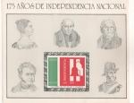 Sellos del Mundo : America : México : 175 Años de la independencia nacional