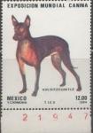 Stamps Mexico -  EXPOSICIÓN MUNDIAL CANINA XOLOITZCUINTLE