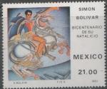 Sellos del Mundo : America : México : SIMÓN BOLIVAR 1783-1830 BICENTENARIO DE SU NACIMIENTO