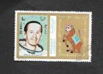 Stamps United Arab Emirates -  Astronautas del Apolo