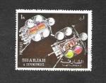 Sellos de Asia - Emiratos Árabes Unidos -  Exploración de Planetas