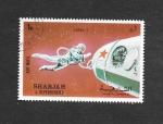 Sellos de Asia - Emiratos Árabes Unidos -  Mi997A - Luna 9