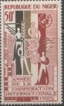 Stamps : Africa : Niger :  1965 año de la cooperación internacional