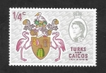 Stamps : America : Turks_and_Caicos_Islands :  222 - Escudo de Armas