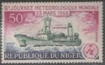 Sellos del Mundo : Africa : Níger : sextas jornadas meteorológicas mundiales