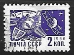 Sellos de Europa - Rusia -  Satelites