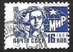 Sellos de Europa - Rusia -  Mujer con paloma de la paz