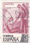 Stamps : Europe : Spain :  DONANTES DE SANGRE (33)