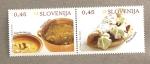 Sellos de Europa - Eslovenia -  Gastronomía eslovena