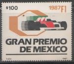 Sellos de America - México -  GRAN PREMIO DE MÉXICO FORMULA 1 1987
