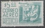 Sellos del Mundo : America : México : serie permanente 50-75 .-Arte popular mascaras Michoacán.