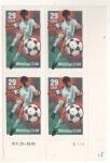 Stamps : America : United_States :  Futbolista block de 4 ,29 cent.USA Copa del mundo de fútbol 94.