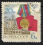 Sellos de Europa - Rusia -  Aniversarios y Jubileos | Segunda Guerra Mundial