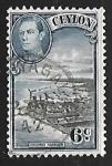 Sellos de Asia - Sri Lanka -  King George VI