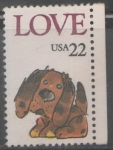 Sellos del Mundo : America : Estados_Unidos : LOVE CACHORRO PERRO 22 CENT.