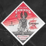 Stamps : Europe : United_Kingdom :  lundy - Europa, Derrota de Eric I de Noruega