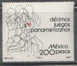 Sellos de America - México -  Decimos juegos  deportivos panamericanos