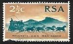 Sellos de Africa - Sudáfrica -  Mail Coach from 1869