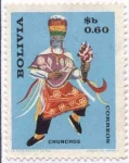 Stamps of the world : Bolivia :  Danzas del folklore Boliviano