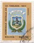 Sellos de America - Bolivia -  Conmemoracion al sesquicentenario de la batalla de Ingavi