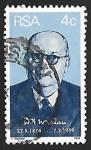 Sellos de Africa - Sudáfrica -  Dr D.François Malan (1874-1959)