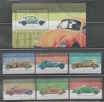 Stamps : America : Cuba :  CUBA AUTOS CLÁSICOS 2016  SERIE COMPLETA N.H.