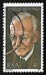 Stamps South Africa -  Jacob Daniel du Toit, Totius (1877-1953)
