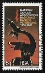 Sellos de Africa - Sudáfrica -  National Association of cancer