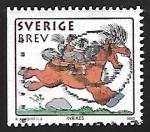 Sellos de Europa - Suecia -  Niño a caballo