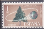 Stamps : Europe : Spain :  VI CONGRESO FORESTAL MUNDIAL (33)