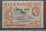 Sellos de Africa - Nigeria -  SERIE NORMAL No. SCOTT 83 SOBRECARGADO VISITA REAL 1956