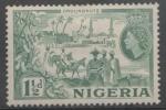 Stamps : Africa : Nigeria :  CACAHUATES KANO CITY  Y NATIVOS Y REINA ISABEL