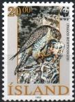 Stamps Iceland -  KALCO  RUSTICOLUS  ADULTO  CON  FRENTE  EN ALTO