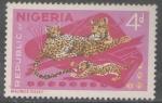 Stamps Nigeria -  LEOPARDO Y CACHORROS.-