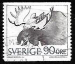 Sellos del Mundo : Europa : Suecia :  Alces