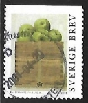 Stamps : Europe : Sweden :  Caja con manzanas