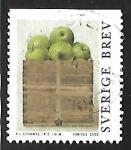 Sellos del Mundo : Europa : Suecia : Caja con manzanas