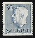 Sellos de Europa - Suecia -  King Gustaf VI Adolf