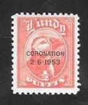Stamps : Europe : United_Kingdom :  Lundy - Coronación 2-6-1953, - frailecillo