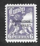 Stamps : Europe : United_Kingdom :  Lundy - Coronación 2-6-1953, - frailecillos