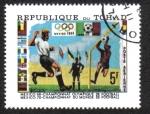 Sellos del Mundo : Africa : Chad : Juegos Olímpicos de verano 68 / Copa del mundo 70
