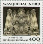 Stamps : Europe : France :  Wasquehal - Norte: El caso del órgano