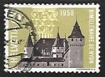 Stamps Switzerland -  Castillo de Nyon