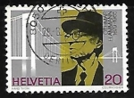 Stamps Switzerland -  Othmar H. Ammann (1879-1965)