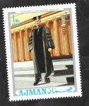 Stamps United Arab Emirates -  Ajman - Eisenhower