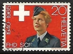 Stamps Switzerland -  Woman in uniform of the FHD