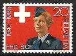 sellos de Europa - Suiza -  Woman in uniform of the FHD