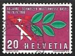 Sellos de Europa - Suiza -  Mercury hat & laurel branch